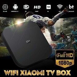 Oryginalny Xiao mi mi TV Box S ue podłącz 4K HDR Android TV 8.1 Ultra HD 2G 8G WIFI Google Cast Netflix-IPTV zestaw top odtwarzacz multimedialny Box 2
