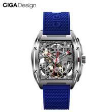цена на CIGA Design Top Design Brand CIGA Z Series Watch Barrel Type Double-Sided Hollow Automatic Mechanical Men's Waterproof Watch