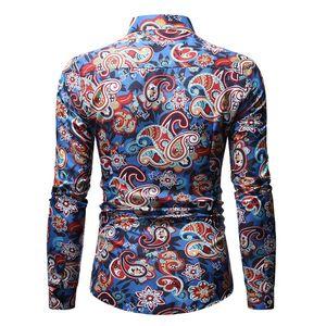 Image 2 - Mens Paisley เสื้อการออกแบบแบรนด์ Stylish Slim Fit เสื้อผู้ชายเสื้อเชิ๊ตแขนยาว Homme Casual Camisas Hombre