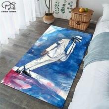 Квадратный нескользящий напольный коврик Майкла Джексона 3d