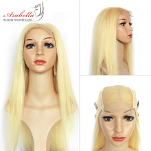 613 Wig Brazilian Straight Hair 4*4 Lace Closure With Baby Arabella 100% Remy Human Blonde Wigs