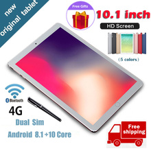 New Android Tablet 10.1Inch 6GB + 128GB Gift for Boys Girls Core 6GB RAM 128GB ROM  Dual Camera WiFi 4G Education Free Shipping