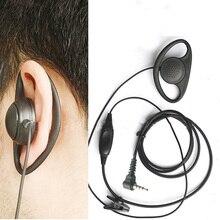 Walkie Talkie D shape headphone Mic PTT Headset For VERTEX YAESU VX-3R/5R/10/110/132/168/210/300 FT-50/60R VX-150 VX-110 FT-60