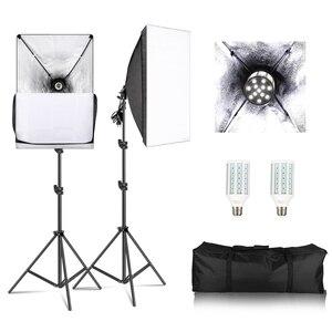 Image 1 - Photography Softbox Light kit 20W E27 LED Photo Light Box for Flash Studio Light Camera Lighting Equipment With Carry Bag