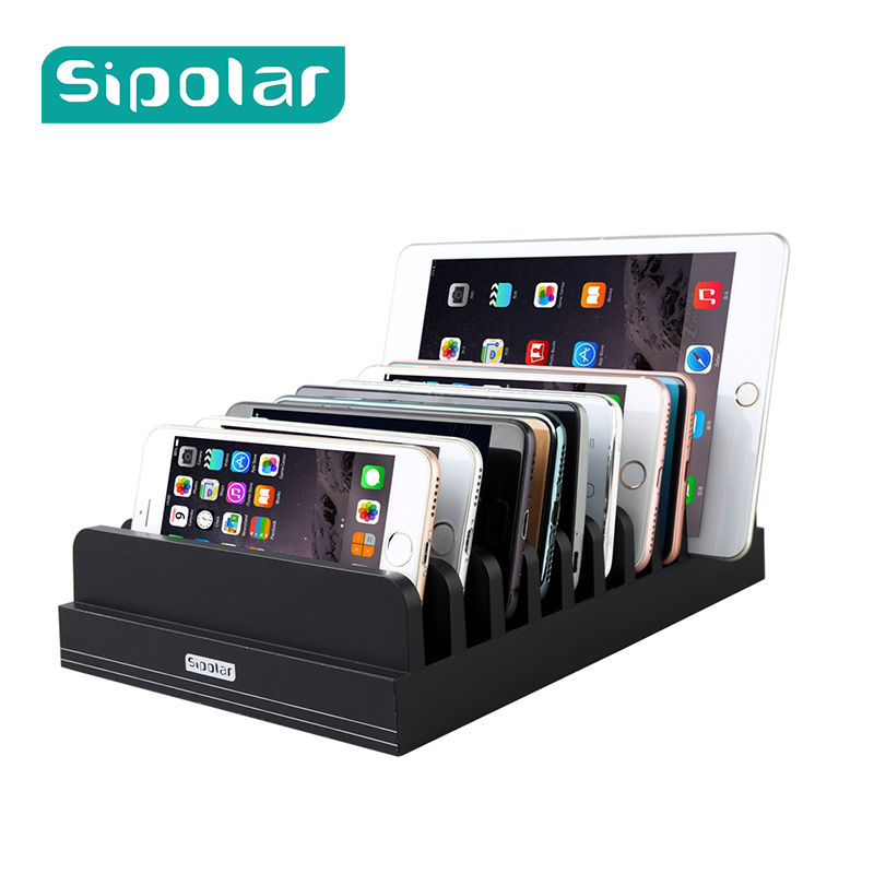 Sipolar Universal 11 slots Charging Stand Bracket Docking Station phone Holder for smartphone Tablet Desktop Lazyman