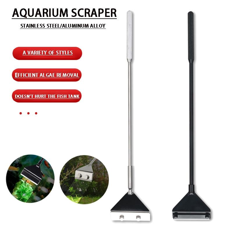 Аквариумный скребок ZRDR для водорослей, многофункциональный набор из нержавеющей стали для очистки живых водорослей и водорослей