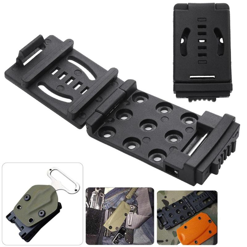 K Sheath Kydex Waist Clip Bushcraft Knife Back Clamp Belt Scabbard Kit Attach Flashlight Hunting Hiking Camping Outdoor Tools image
