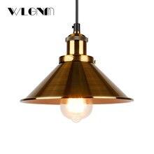 lámpara industrial dorada RETRO VINTAGE