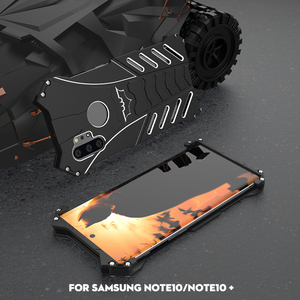 Image 5 - R JUST מקרה לסמסונג גלקסי S20 Ultra הערה 10 מקרה באטמן שריון כבד החובה מתכת אלומיניום כיסוי עבור Samsung הערה 10 בתוספת קאפה