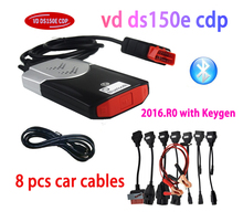цены на FreeShip 2019 VD DS150E CDP Bluetooth 2016.R0 with Keygen on cd Diagnostic for delphis Cars truck OBD2 obdii Scanner tcs cdp pro  в интернет-магазинах