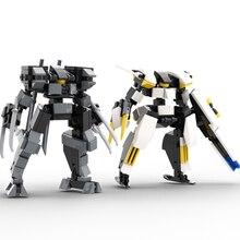 135 pçs design original mecha guerreiro blocos de construção brinquedos para crianças robôs armadura anime figura modelo 10cm figura ação bonecas