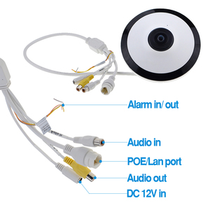 Image 5 - Dahua IPC EW4431 ASW 4MP Panorama POE WIFI 360 Fisheye IP Della Macchina Fotografica Built in Slot Per Schede SD MIC Audio Interfaccia Allarme