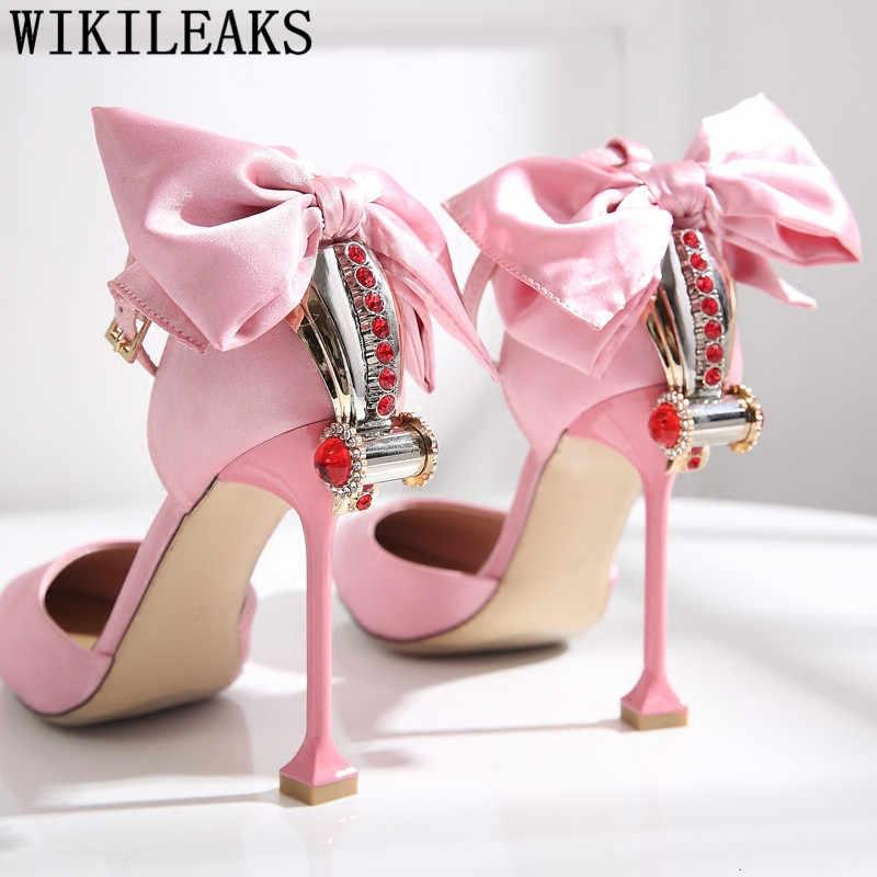 Fetish sandali degli alti talloni delle donne del progettista scarpe da donna scarpe da sposa pompe sexy di san valentino scarpe sexy tacchi alti a spillo tacones