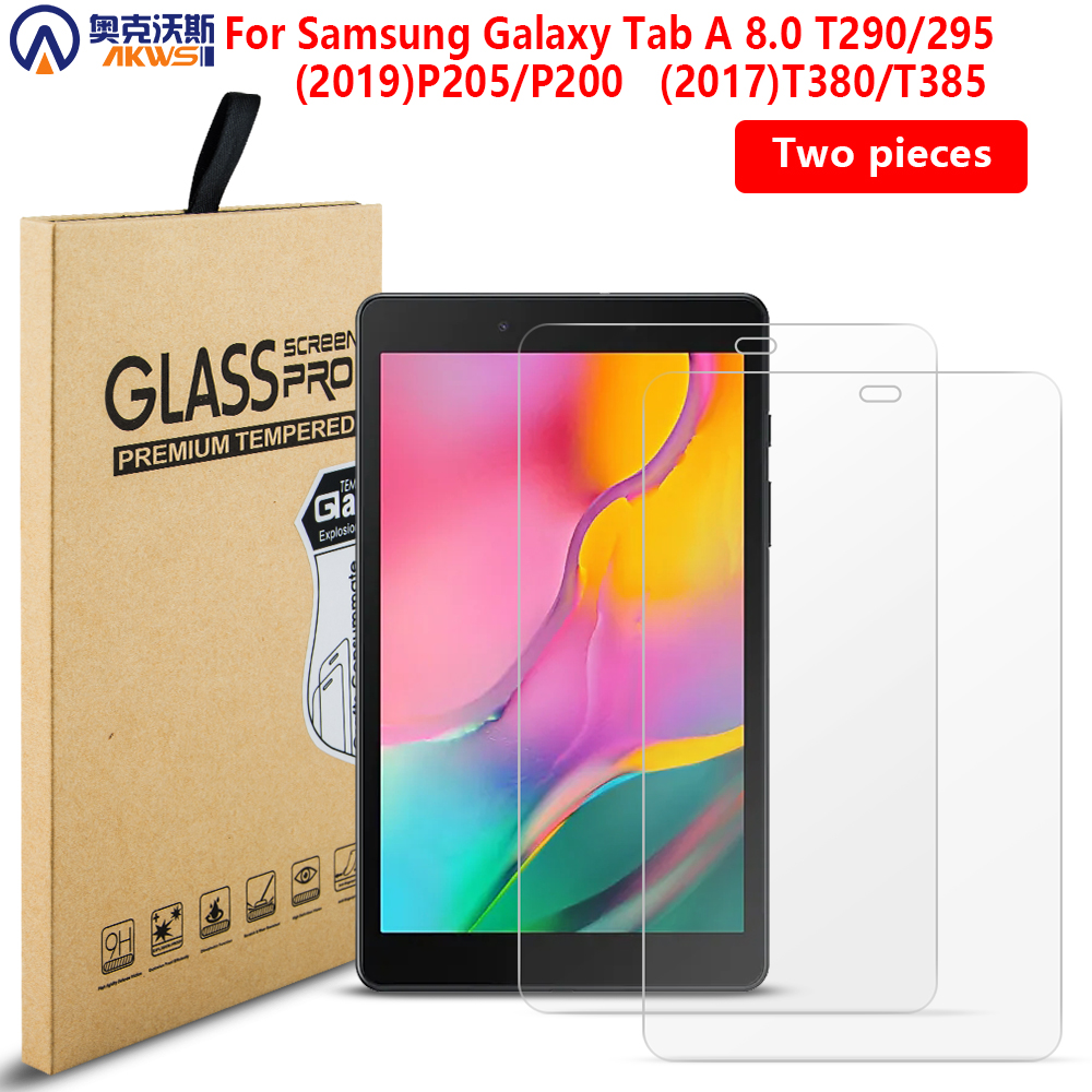 2PCS Tempered Glass Screen Protector CASE Film For Samsung Galaxy TAB A 8.0 SM-P200/P205 2019 T290/T295 T380/T385 Tempered Guard