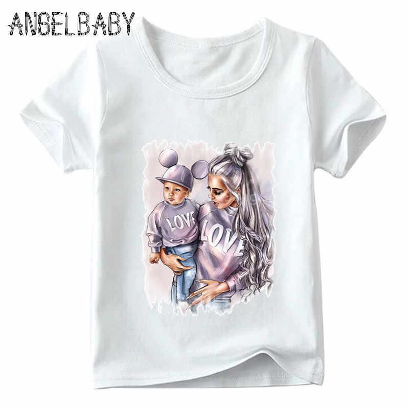 Camiseta estampada engraçada infantil, verão de 2020, roupas familiares, mãe, filha, filho, meninos, meninas, super família camiseta com camiseta