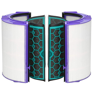 Image 2 - 4 قطعة/المجموعة دائم سهلة التركيب قابلة لإعادة الاستخدام الكربون المنشط لتنقية الهواء تنظيف مجموعة فلاتر المنزل ل دايسون TP04 TP05 HP04 HP05 DP04
