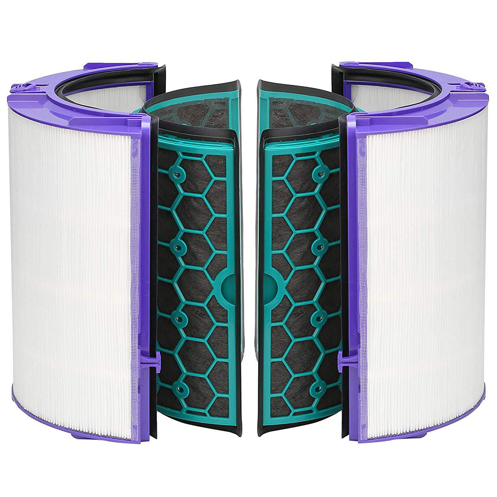 Image 2 - 4PCS/Set Durable Easy Install Reusable Activated Carbon Air Purifier Cleaning Home Filter Set For Dyson TP04 TP05 HP04 HP05 DP04-in Air Purifier Parts from Home Appliances