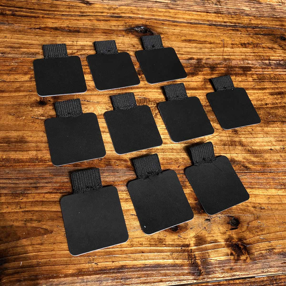 10PC Self-Adhesive BLACK Leather Pen Clip Pencil Elastic Loop For Notebooks Journals