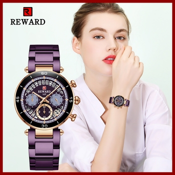 Hot Reward Women's Wristwatch Fashion Waterproof Travel Date Timepiece Girls Watch Casual Wrist Watch for Women Quartz Watches 1