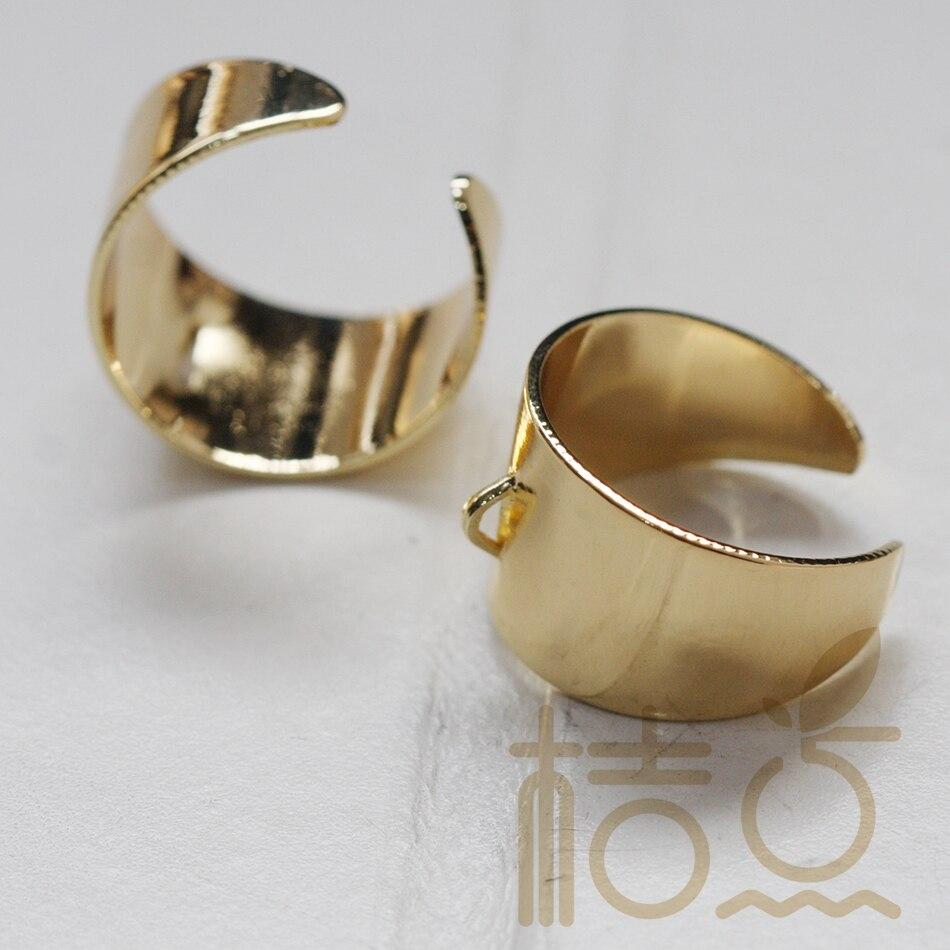 Твердосплавное латунное кольцо-кольцо на палец-регулируемое-открытый конец-21x20 мм (3767C)