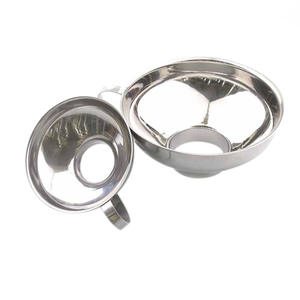 Funnel Sauces Beans Stainless-Steel Wide-Mouth Large for And Regular-Jars Useful 2pcs-Set