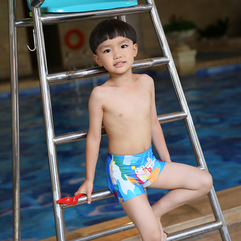 2018 New Style Platypus Item Cartoon CHILDREN'S Swimming Trunks Camouflage Thin Drawstring Boxer Shorts Manufacturers Direct Sel