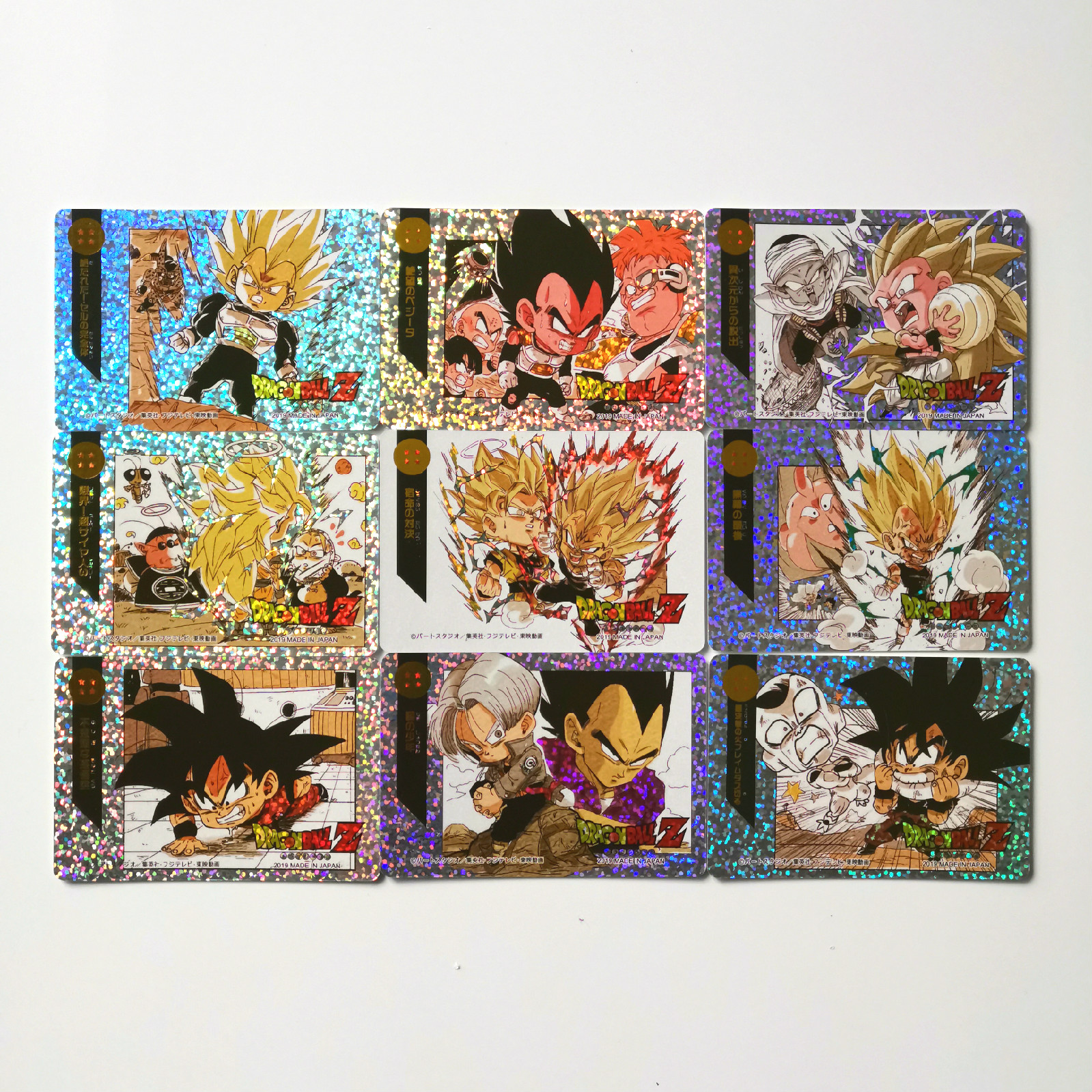 9pcs/set Super Dragon Ball Z Q Heroes Battle Card Ultra Instinct Goku Vegeta Game Collection Cards