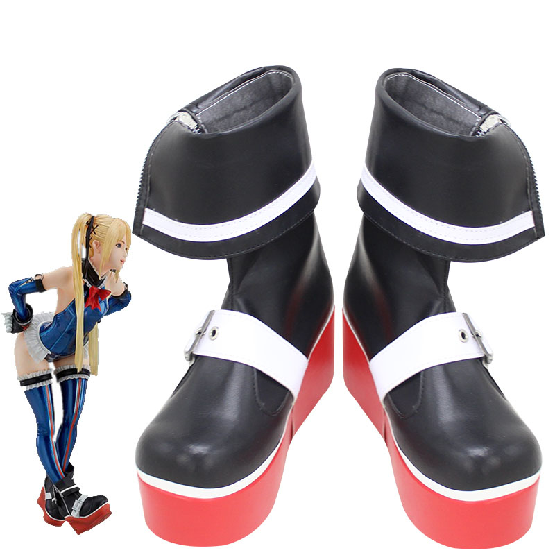 Game Dead or Alive 5 Marie Rose Cosplay Shoes Women Soft PU Leather Boots Custom Made