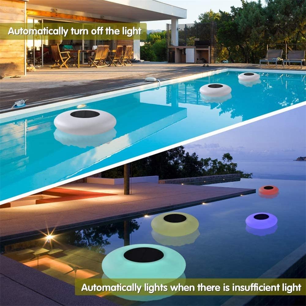 piscina lâmpada de controle remoto 16 cores