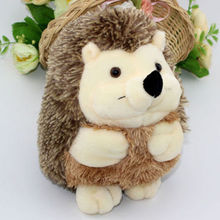 Cute Soft 18cm Hedgehog Animal Doll 7in Stuffed Plush Toy Gift Cream Children Kid Home  Gifts Cute Lovely Pp Cotton Gifts