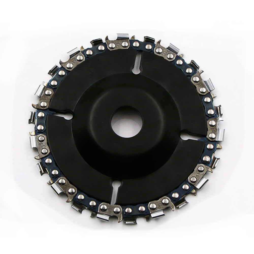 4 Inch Wood Carving Disk Grinder Disc Chain Woodworking Saw Blade Cutting Blade Wood Slotted Saw Blade Angle Grinder
