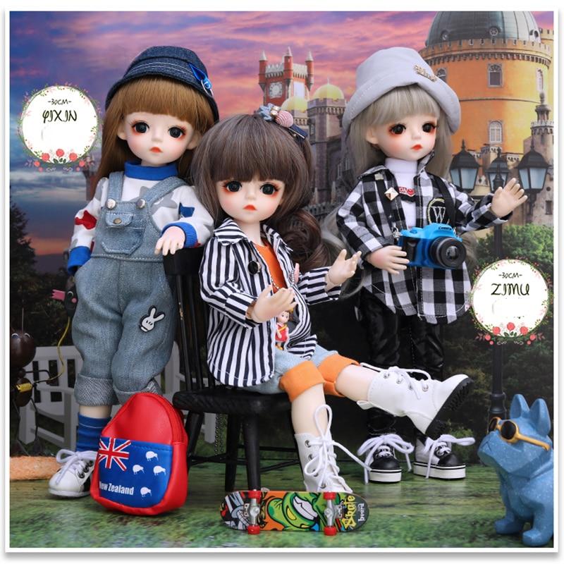 12pcs Mini Lilo Figurines Baking Set DIY Doll 2019 New Lilo and Stitch Figures