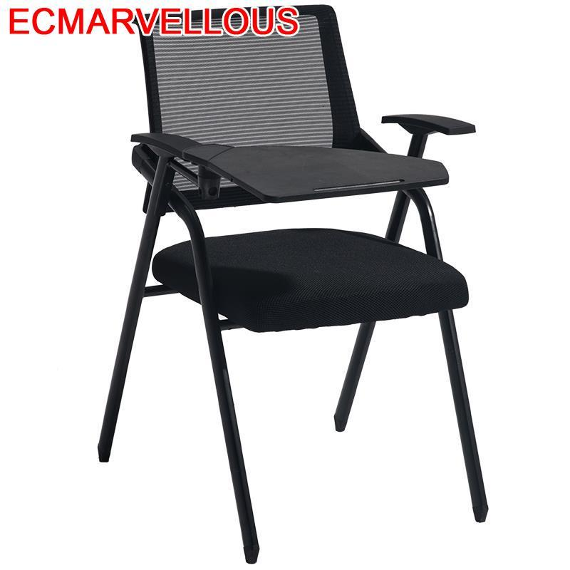 Meeting Escritorio Executiva Cadeira Com Escrita Sedie Moderne Pieghevoli Board Silla De Oficina Folding Office Conference Chair