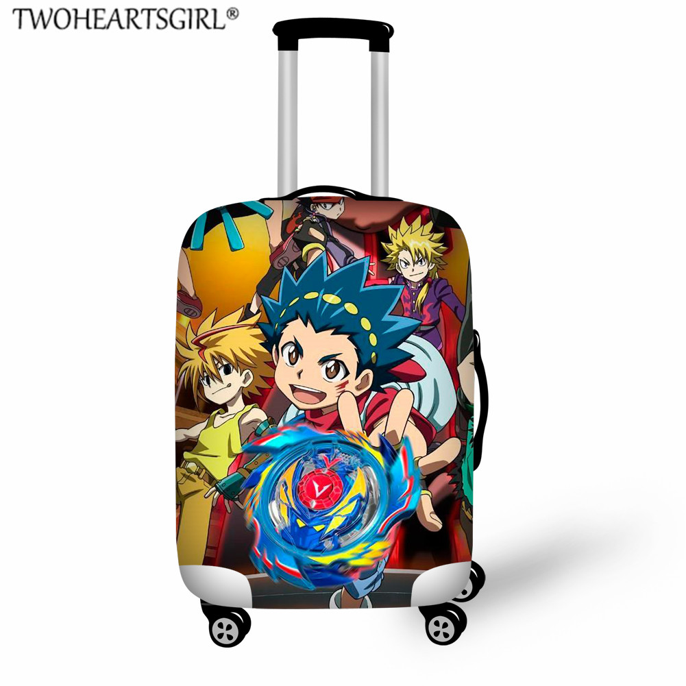 TWOHEARTSGIRL Beyblade Burst Luggage Protective Cover Travel Accessories Suitcase Cover For 18-32 Inch Trolley Case Dust  Cover