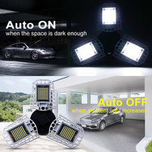 E27 Led Garage Light 60W LED Deformable Lamp Adjustable IP65 Waterproof Industrial Lighting 80W AC 100-277V Super Bright Bulb 56w 112w 168w 224w 336w 500w led floodlights ip65 120 degree adjustable led tunnel light 85 277v meanwell driver free shipping