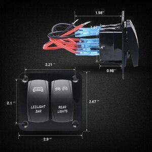 5-контактный 2-ВКЛ-ВЫКЛ кулисный переключатель Панель комплект черная сумка перламутрового цвета светодиодный свет бар переключатель для д...