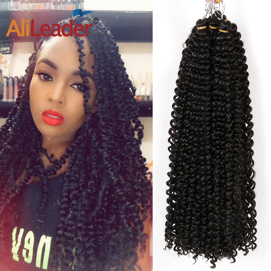 Fluffy Crochet Braid Hair for Passion Twist Hair 30Strands/Pack 18Inch Pre-Loop Long Braids Twist Synthetic Hair Extension image