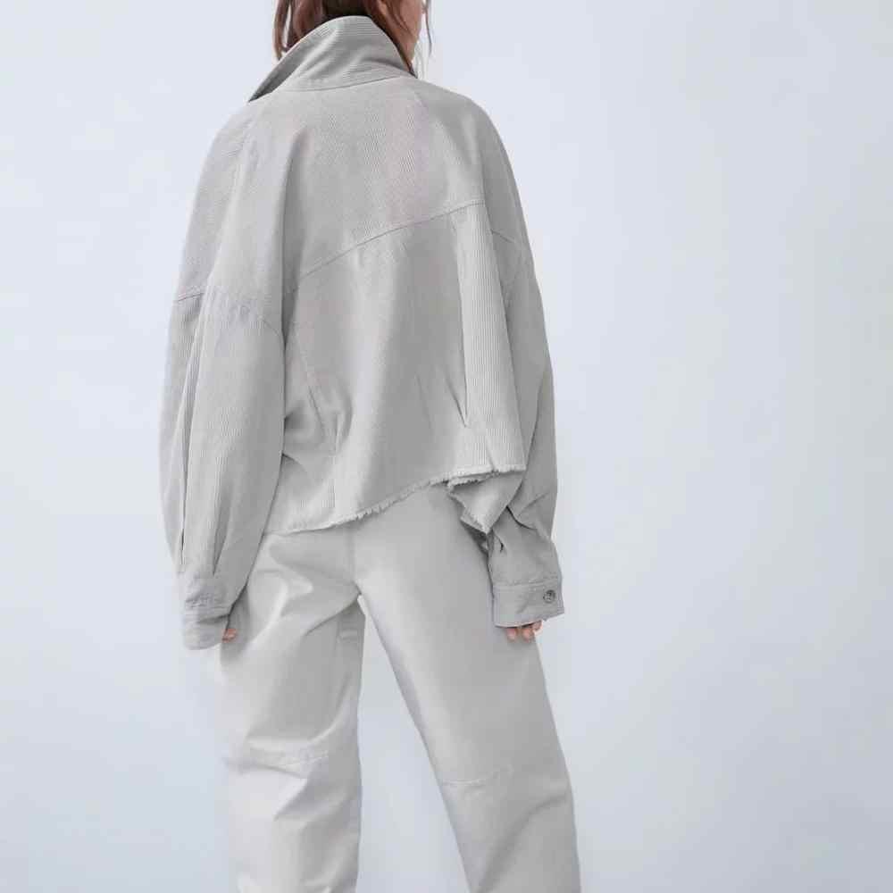 2019 Za Thu Đông Nữ Cotton Ren Định Áo Khoác Form Rộng Ấm Khoác Ngoài Oversize Áo Khoác Nữ Shirtwear Áo Khoác Nữ Quần Áo