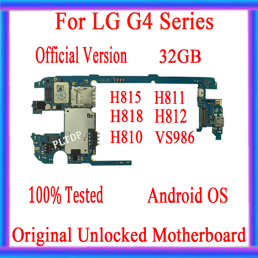 100% unlocked for <font><b>LG</b></font> G4 <font><b>H815</b></font> H811 H818 H810 H812 VS986 <font><b>Motherboard</b></font> 32GB for <font><b>LG</b></font> G4 <font><b>H815</b></font> Original Mainboard Good quality image