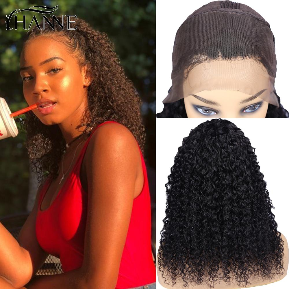 HANNE Curly Lace Frontal Human Hair Wigs 13*4 Brazilian Lace Remy Hair Wig PrePlucked Wig 150% Density For Black Women Free Ship