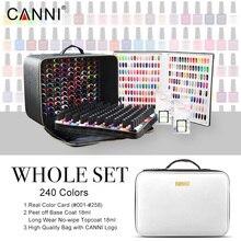 240 색상/많은 CANNI 젤 네일 폴란드어 7.3ml LED UV 컬러 젤 래커 네일 아트 살롱 LED 램프 경화 UV 젤 매니큐어