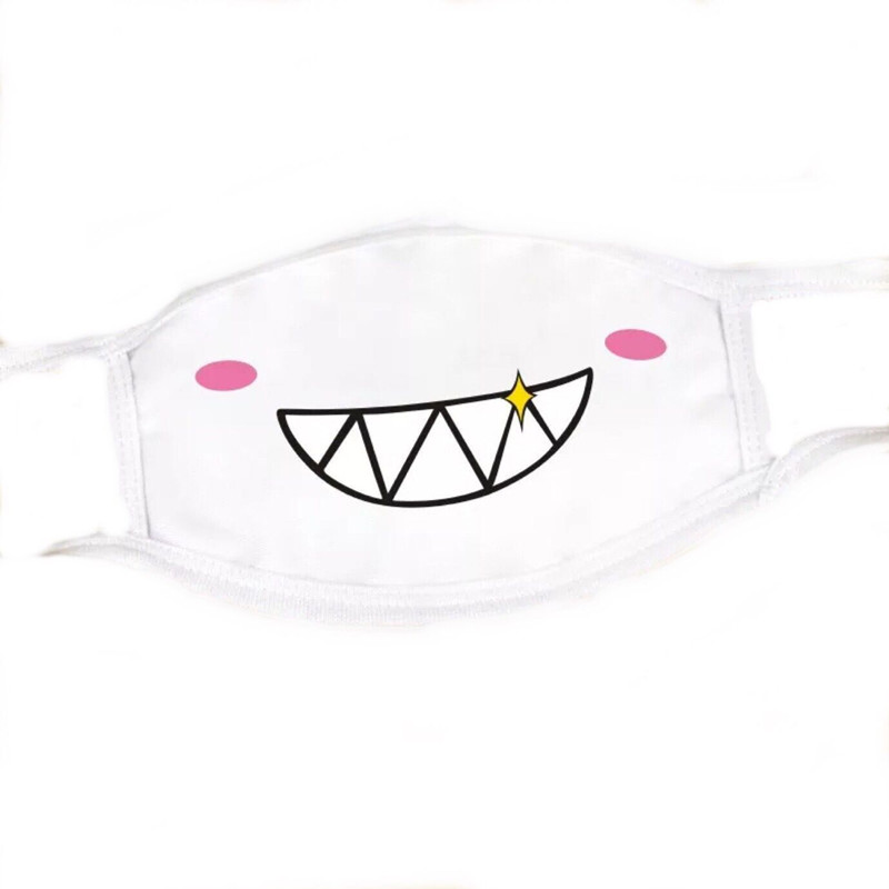 1PC Cute Anime Cartoon Mouth  Face  Anti Dust Muffle Mask Unisex Style Cover Cycling Cotton Facial Protective Cover Masks