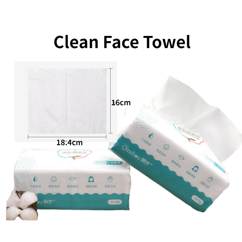 100Pcs Disposable Face Clean Non-woven Cotton Cosmetics Towel Paper  Makeup Wipes Antiseptic Cleanse Cleaning Face Towel