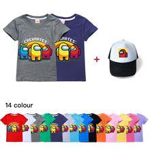 Среди нас бутик детская футболка + модная шляпа для мальчиков