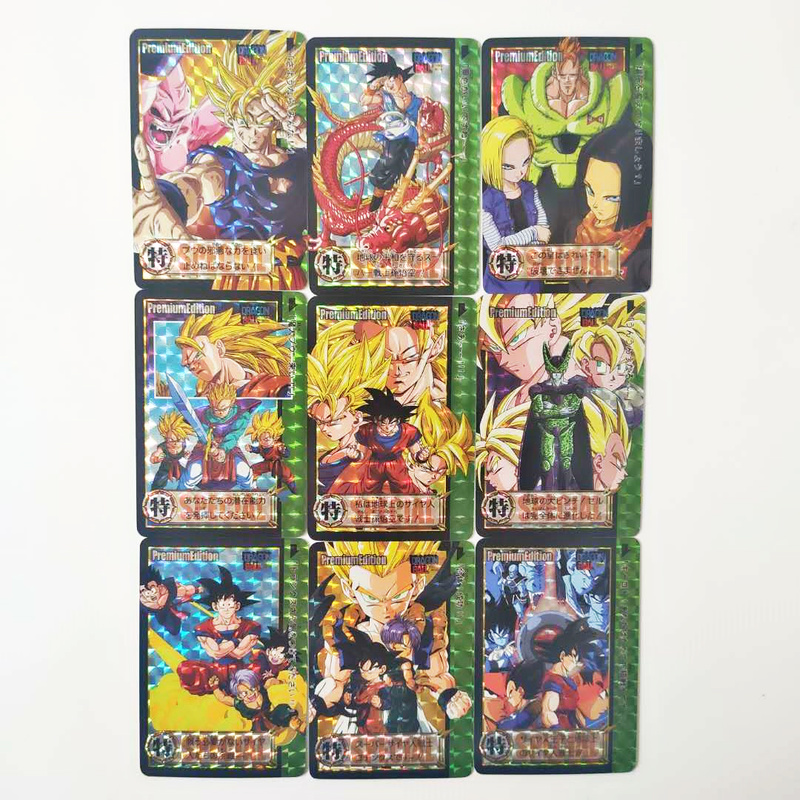 9pcs/set Dragon Ball Z Super Saiyan Goku Vegeta Game Figures Commemorative Edition Collection Cards Limit Free Shipping