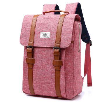 """Κομψό vintage backpack για Υπολογιστή 14"""" με Δερμάτινα Λουριά και Φερμουάρ για Άνδρες και Γυναίκες Μοντέρνα unisex Σχολική Τσάντα Σακίδιο Πλάτης Μεγάλης Χωρητικότητας για tablet"""