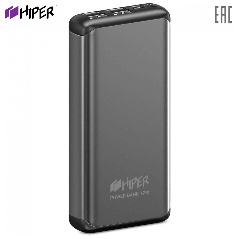 Power Bank Hiper MS20000 SILVER fast charge PD QC type-c connector macbook charger compact power banks external battery Powerbank MS20000 Li-Pol 20000 mAh