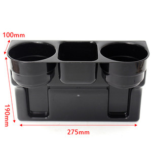 Image 5 - 3 In 1 Multifunction Car Cup Holder Organizer Drink Beverage Seat Seam Wedge Car Auto Vehicle Seat Cup Phone Drink Box Organizer