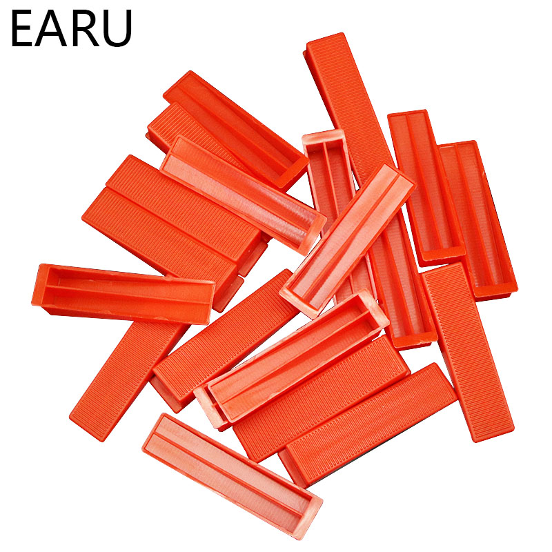 100pcs Red Wedges Plastic Ceramic Tile Leveling System Tiling Floor Wall Carrelage Tools Spacers Locator Leveler Level Wholesale