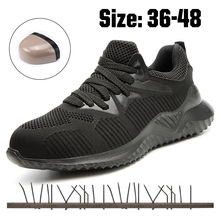 Men's Steel Toe Safety Shoes Lightweight Work Sneakers Breathable With Metal Cap Indestructible Ryder